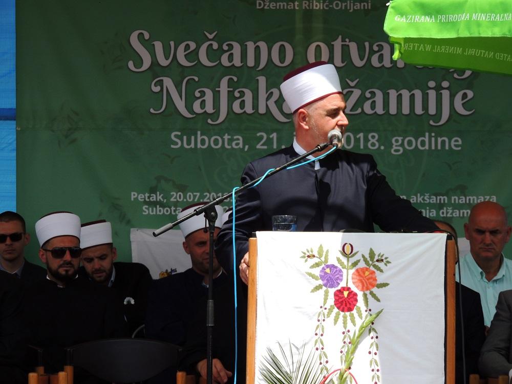 Reisu-l-ulema prisustvovao svečanosti otvorenja Nafaka džamije u Bihaću
