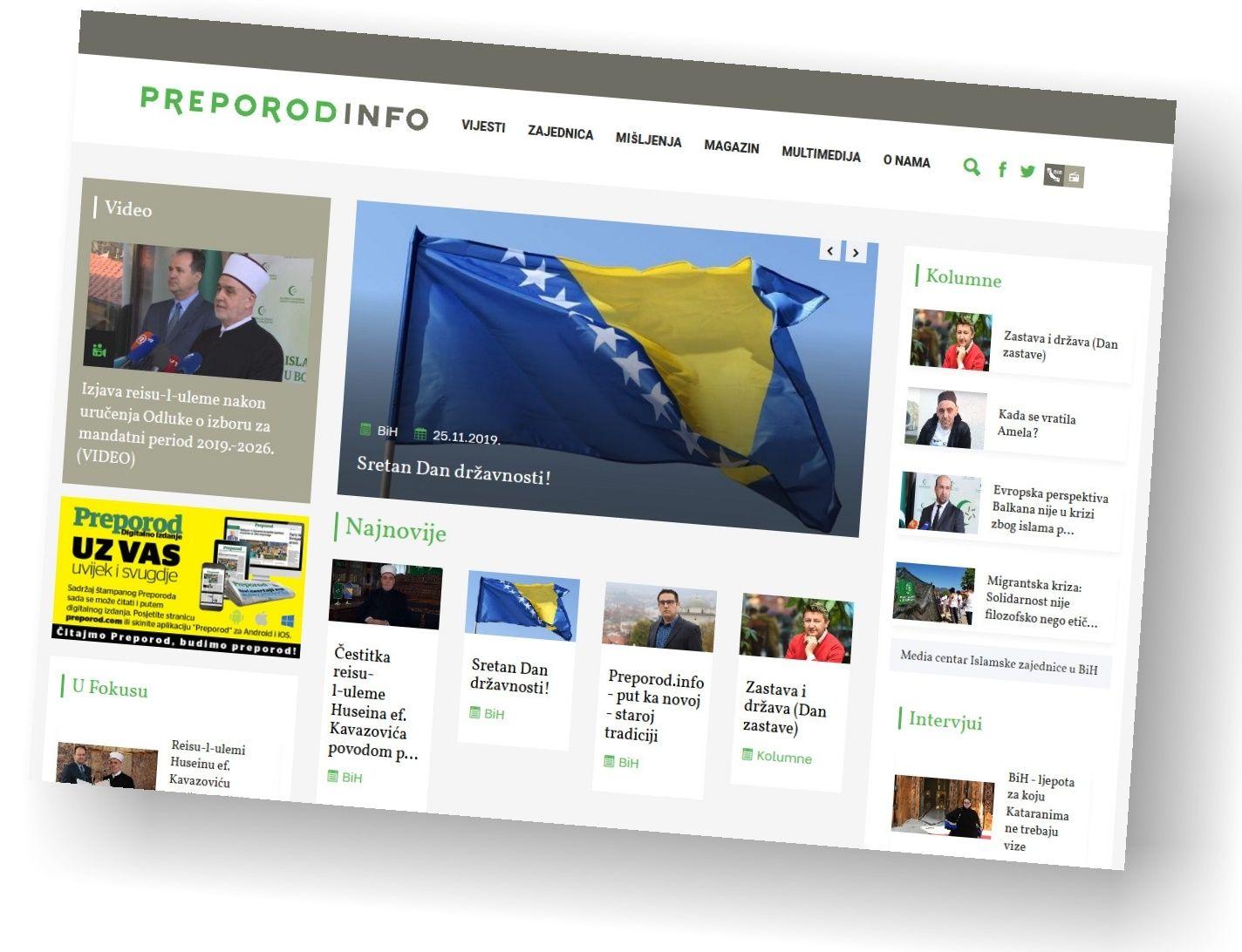 Dan državnosti uz novi portal Media centra Islamske zajednice Preporod.info